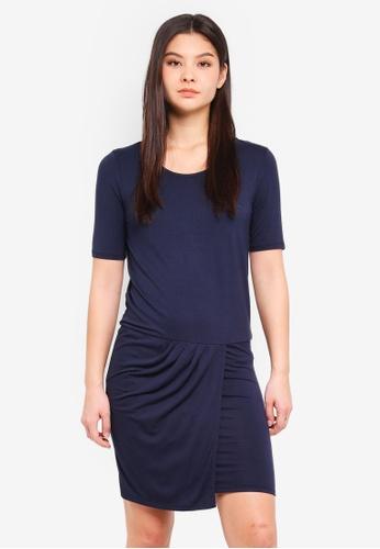 ICHI blue Siko Dress EC43FAA1073E91GS_1