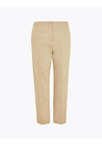 MARKS & SPENCER brown M&S Mia Slim Cropped Trousers CBA69AADFFAF36GS_1