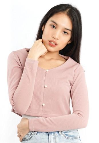 Agatha pink Agatha Crop Cardigan 34B73AADBC30DFGS_1