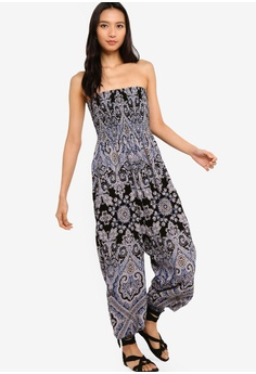 92b5c024fbec ... NOW RM 134.90 Sizes 8. Free People black and multi Thinking Of You  Jumpsuit D882BAA578B1C2GS 1