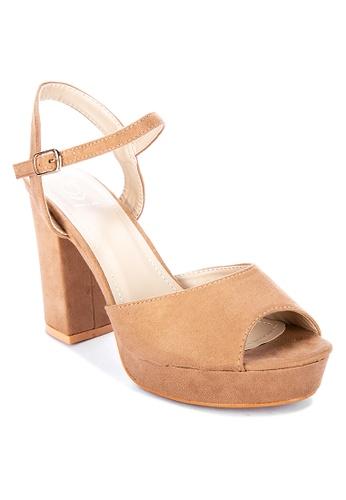 ABOUT A GIRL beige Peep Toe Heels 2789ESH8F6FFF5GS_1