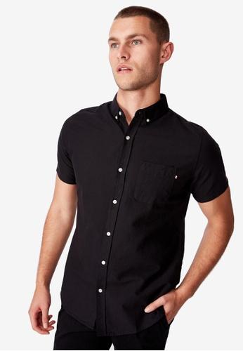 Cotton On black Vintage Prep Short Sleeve Shirt CO372AA0SHWOMY_1