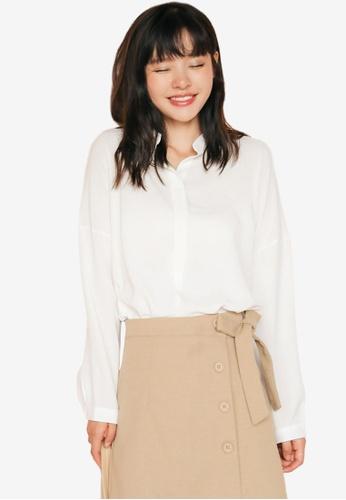 4b762f98536d6f Buy Shopsfashion Loose Fit Drop Shoulder Blouse | ZALORA HK