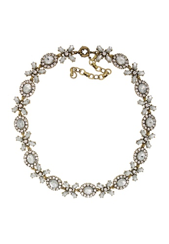 Jaysa Collection gold Crystal Extravagance Garden Party Necklace 57AFCAC0BEC24BGS_1