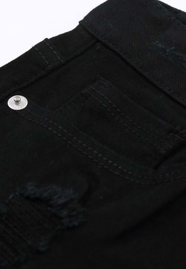 Mini Black Jeans H Stretch CONNECT Distressed Skinny Flared C4wqtHSa