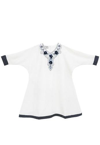 FIYORA navy Delila Cotton Girl Dress Moslem C88F2KACD0EB27GS_1