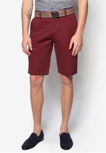 腰帶休閒短褲, 服飾, zalora 折扣碼短褲