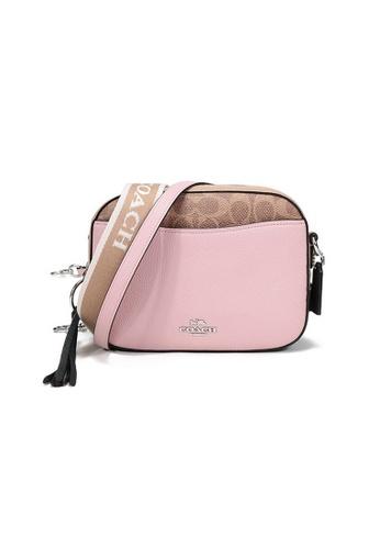 Coach pink Coach In Signature Camera Bag in Pink 3BB9EACF381CF1GS_1