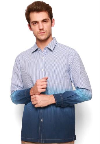 Rigato blue Long Sleeve Deep Dye Shirt BBE26AA0A07BB7GS_1