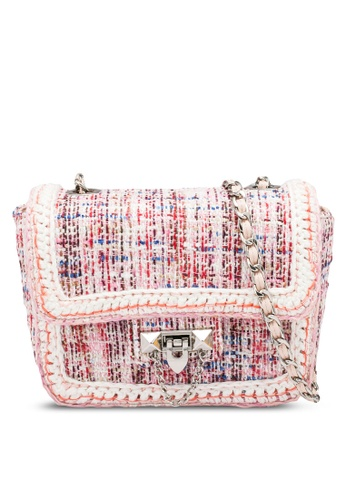 nose pink Tweed Shoulder Bag 693DFAC48646F6GS_1
