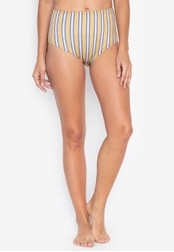 OXYGEN yellow Striped Bikini Bottom 82215US6F52E31GS_1