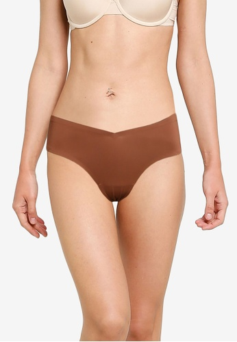 Abercrombie & Fitch red and brown No Show Micro Cheeky Panties 6D888USC5D85EAGS_1
