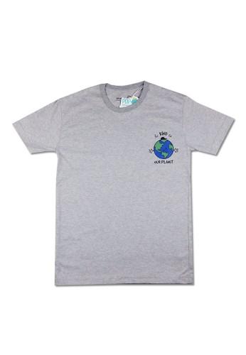 Pop Kidswear grey Pop Kidswear Our Planet Adult tee ( Short Sleeves ) FAF63AA7DFA7D2GS_1