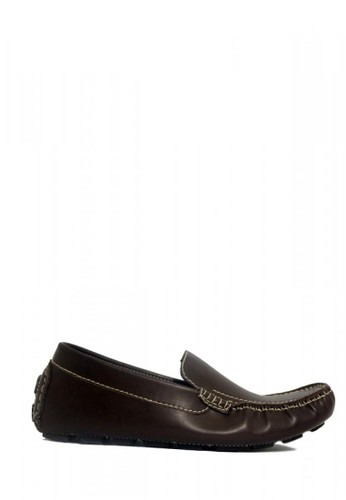 D-Island brown D-Island Shoes Slip On Moccasin Office Leather Brown 85196SHB93104FGS_1