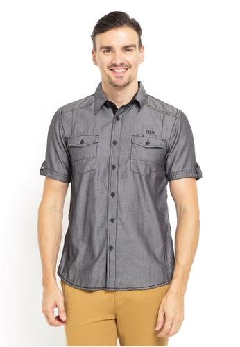 LGS grey LGS - Slim Fit - Kemeja Fashion - Double Pocket - Abu 281C2AA712A5E4GS_1
