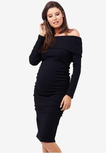 Ripe Maternity black Maternity Bonnie Dress 1BD9FAAD6D1EABGS_1