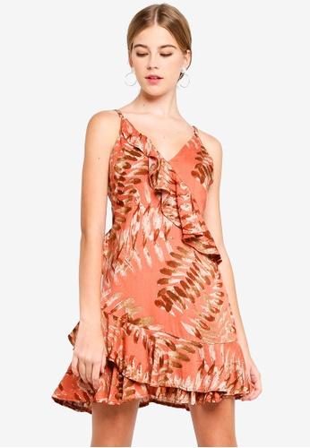 INDIKAH pink Tiered Ruffle Skater Dress 6B181AA5BBE717GS_1