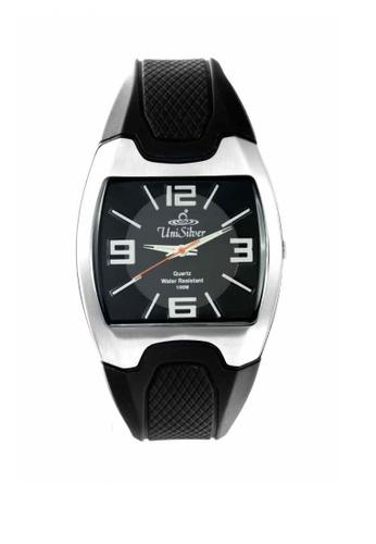 UniSilver TIME black Shots Collection Men's Rubber Watch 33AF4ACA954BFDGS_1