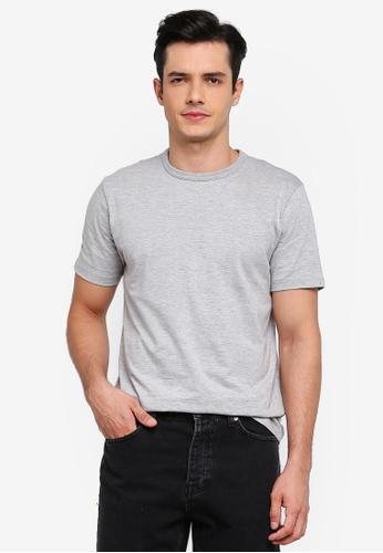 Topman 灰色 圓領T恤 A0A29AAF85012EGS_1