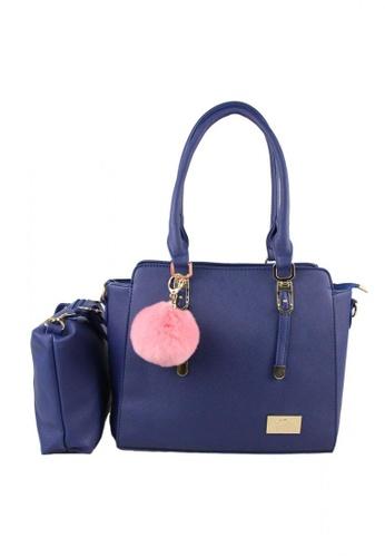 DNJ blue Chic Tote Bag with Sling Bag DN487AC31WKQPH_1