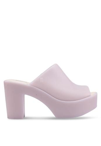 Melissa 米褐色 Melissa 粗跟穆勒鞋 C57EBSHAB3DD2CGS_1