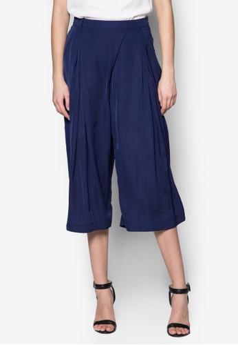 中腰闊管七分褲, 服zalora鞋飾, 服飾