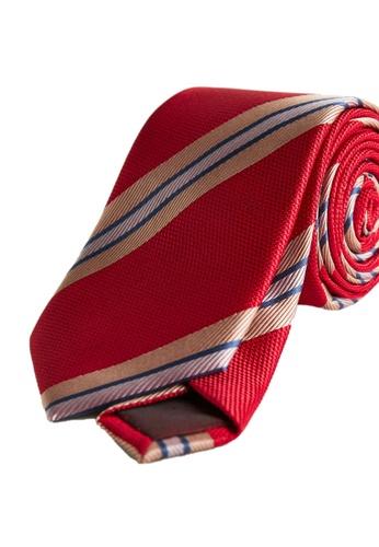 Mango Man red Striped Satin Tie 38D34AC4498DADGS_1
