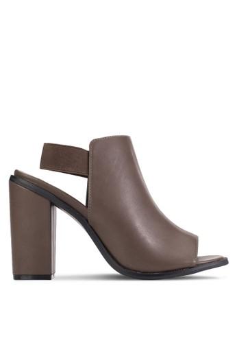 Peep Toe Wrap Block Heel