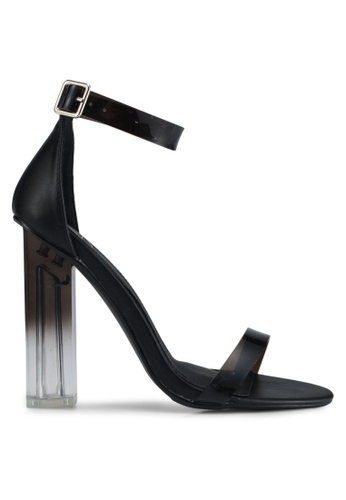 MISSGUIDED black Block Heel Perspex Sandals 7C2BDSH1550600GS_1
