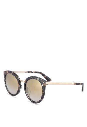 048529007356 Dolce   Gabbana black Round Leopard DG4268F Sunglasses DO384GL20URVMY 1