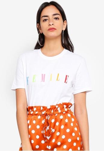 MISSGUIDED white Female Slogan T-Shirt B66B7AA57AAAF5GS_1