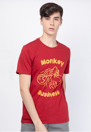 Skelly red Skelly Original Monkey Business Tee Red Dahlia 517E6AA0FC9D1BGS_1