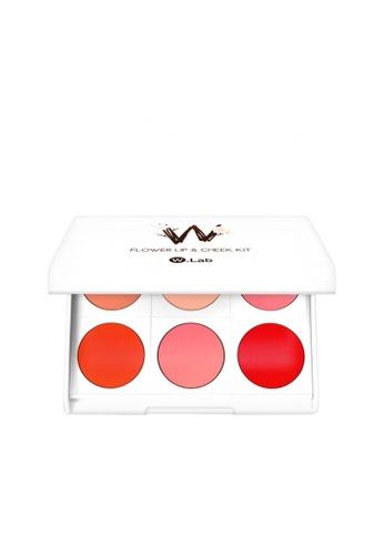 W.Lab red and pink Flower Lip&Cheek Kit WL257BE88RXJSG_1