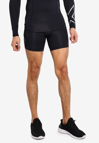 2XU 黑色 Compression 1/2 Shorts 27F0DAAB9C0939GS_1