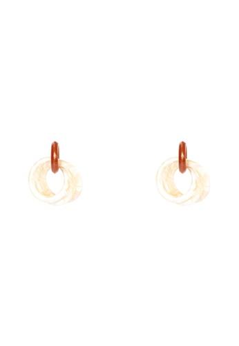 Irene beige Valerie Earrings- Tri Hoops EEF43AC98F5706GS_1