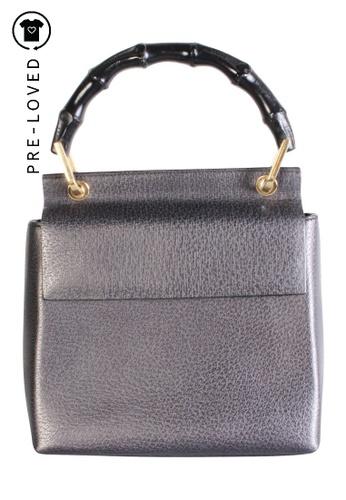 Gucci grey Pre-Loved gucci Vintage Bamboo Top Handle Bag E8FA7AC29DE879GS_1