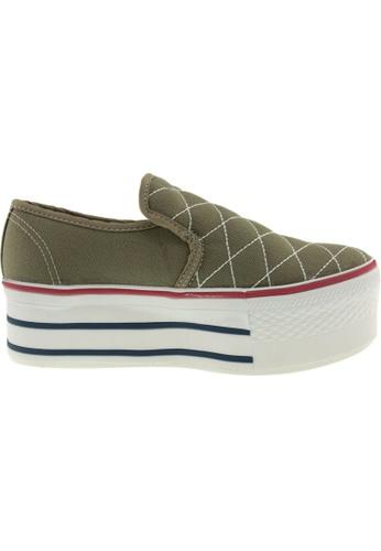Maxstar green Maxstar Women's C50 Stitched Platform Canvas Slip On Shoes US Women Size MA164SH13QQWSG_1