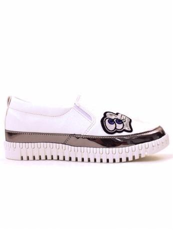 Crystal Korea Fashion white Korean Style New Light Pattern Comfortable Light Shoes CR681SH2V08LHK_1