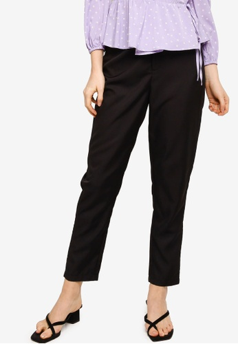 Lubna black Straight Cut Pants 4AB4BAA3764646GS_1