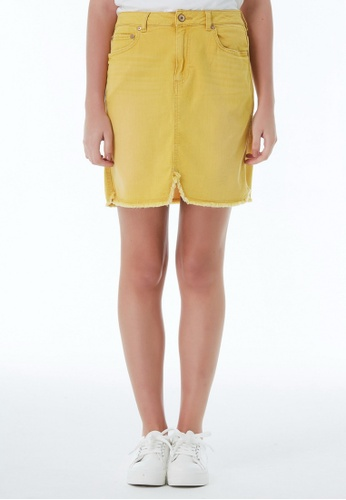 United Colors of Benetton yellow Short Denim Skirt 8EE8EAA31680A1GS_1
