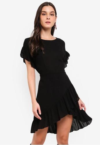 05e83f326 Buy ZALORA Ruffles Fit And Flare Dress Online | ZALORA Malaysia