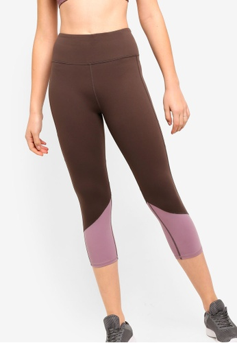 Cotton On Body brown Tempo Mesh Panelled C Tights 8D352AA49AEDDAGS_1