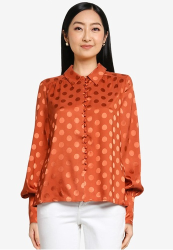 Vero Moda orange Lavida Long Sleeve Shirt C7C96AAC03C9F1GS_1