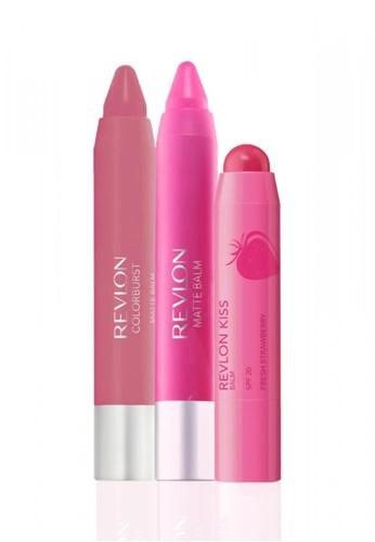 Revlon pink and purple Revlon Kiss™ Balm Fresh Strawberry 2.6g & Matte Balm 2.7g * 2 Ea Set RE737BE33YRMSG_1