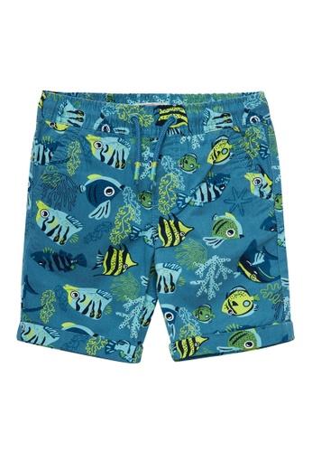 Du Pareil Au Même (DPAM) blue Electric Blue Bermuda Shorts BC6B4KA0EAFE02GS_1