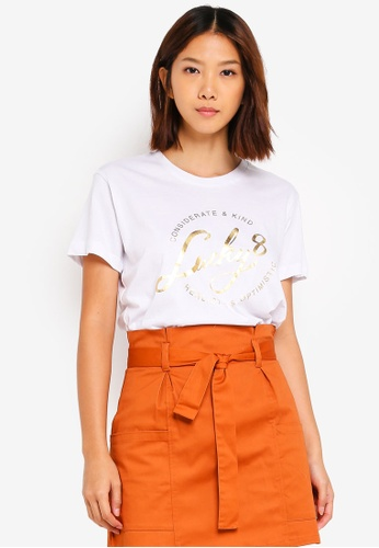Cotton On white Tbar Fox Graphic T-Shirt 2A241AAD85982DGS_1
