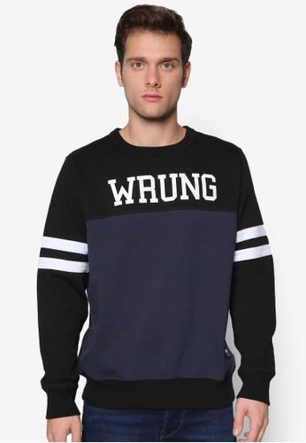 色塊條紋文字esprit地址設計長袖衫, 服飾, 外套