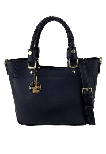 Mel&Co black Faux Leather Satchels Hand Bag 15DB4ACA242D99GS_1
