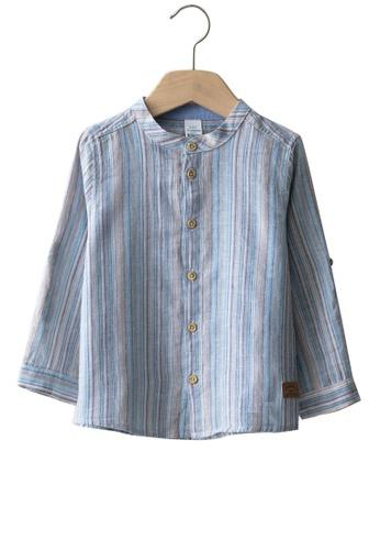 LC Waikiki blue Boy Linen Shirt 9FAF3KAC2E60E7GS_1