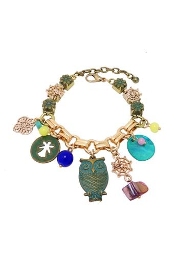 Jaysa Collection green Bohemian Style Seashell Assorted Bracelet JA875AC0GVEPSG_1